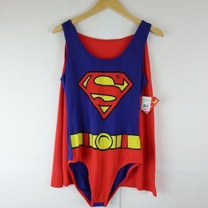 Supergirl Hot Topic Leotard with Cape XL